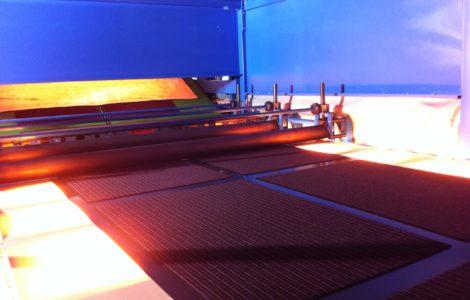 IR bij tapijt productie, IR for production of carpets